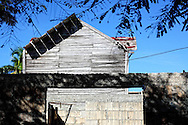 Weathered house in Gibara, Holguin, Cuba.