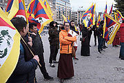 Solidarity event on Human Rights Day 2019 in Amsterdam, organised by the International Campaign for Tibet (ICT), during which among others Tibetans, Uighurs, people from HongKong and Chinese Christians protest against the repression of the Chinese regime.