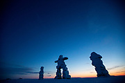 Charlotte Crosby TLC Travel show. An inuksuk (plural inuksuit) at Igloolik.
