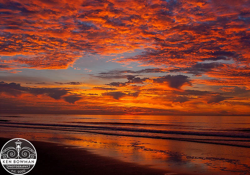 Vivid sunrise on Isle of Palms