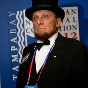 Abraham Lincoln look-alike, Republican National Convention, Tampa FL.