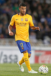 09.04.2016, Estadio de Anoeta, San Sebastian, ESP, Primera Division, Real Sociedad vs FC Barcelona, 32. Runde, im Bild FC Barcelona's Rafinha Alcantara // during the Spanish Primera Division 32th round match between Real Sociedad and FC Barcelona at the Estadio de Anoeta in San Sebastian, Spain on 2016/04/09. EXPA Pictures © 2016, PhotoCredit: EXPA/ Alterphotos/ Acero<br /> <br /> *****ATTENTION - OUT of ESP, SUI*****