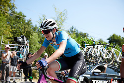 Marta Cavalli (ITA) during La Course by Le Tour de France, a 121 km road race starting and finishing in Pau, France on July 19, 2019. Photo by Sean Robinson/velofocus.com