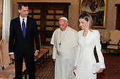 Pope Francis and His majesty of Spain