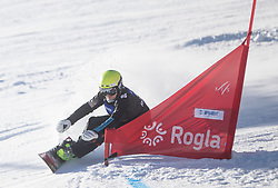 Polanec Iva during the women's Snowboard giant slalom of the FIS Snowboard World Cup 2017/18 in Rogla, Slovenia, on January 21, 2018. Photo by Urban Meglic / Sportida