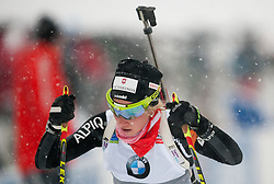 Gasparin Elisa of Switzerland competes during Ladies 7,5 km Sprint of the e.on IBU Biathlon World Cup on Thursday, December 14, 2012 in Pokljuka, Slovenia. The third e.on IBU World Cup stage is taking place in Rudno polje - Pokljuka, Slovenia until Sunday December 16, 2012. (Photo By Vid Ponikvar / Sportida.com)