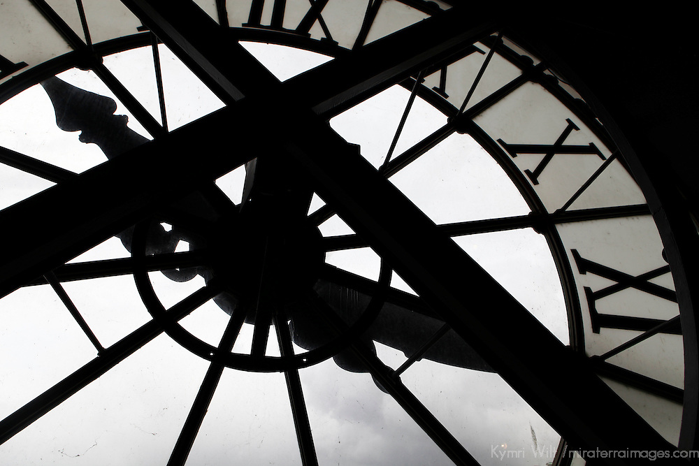 Europe, France, Paris. Clock at Musee D'Orsay.