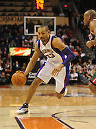 Feb. 2, 2011; Phoenix, AZ, USA; Phoenix Suns forward Grant Hill (33) handles the ball against the Milwaukee Bucks at the US Airways Center. The Suns defeated the Bucks 92-77. Mandatory Credit: Jennifer Stewart-US PRESSWIRE