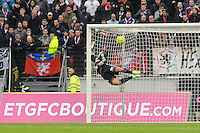 Goal Cedric BARBOSA / Anthony LOPES - 07.12.2014 - Evian Thonon / Lyon - 17eme journee de Ligue 1 -<br />