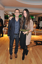 HARVEY SPEVAK chief executive officer of Equinox Holdings Inc. and ELIZABETH SALTZMAN at the launch of famed American fitness club 'Equinox' 99 High Street Kensington, London on 23rd October 2012.