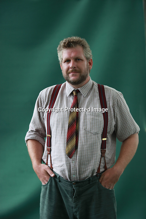 A portrait of Matthew De Abaitua in the Edinburgh Book Festival2011 . This photo has been taken on 16/8/2011<br /> <br /> Pic by Pako Mera