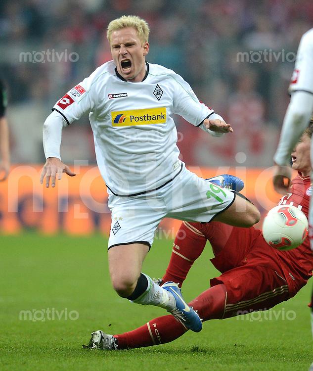 FUSSBALL   1. BUNDESLIGA  SAISON 2012/2013   17. Spieltag FC Bayern Muenchen - Borussia Moenchengladbach    14.12.2012 Mike Hanke (Borussia Moenchengladbach)