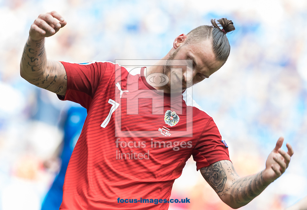 Marko Arnautovic of Austria during the UEFA Euro 2016 match at Stade Velodrome, Marseille, France.<br /> Picture by EXPA Pictures/Focus Images Ltd 07814482222<br /> 22/06/2016<br /> *** UK &amp; IRELAND ONLY ***<br /> EXPA-FEI-160622-5033.jpg