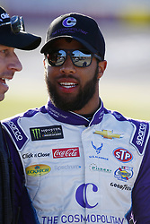March 2, 2018 - Las Vegas, Nevada, United States of America - March 02, 2018 - Las Vegas, Nevada, USA: Darrell Wallace Jr (43) hangs out on pit road before qualifying for the Pennzoil 400 at Las Vegas Motor Speedway in Las Vegas, Nevada. (Credit Image: © Chris Owens Asp Inc/ASP via ZUMA Wire)