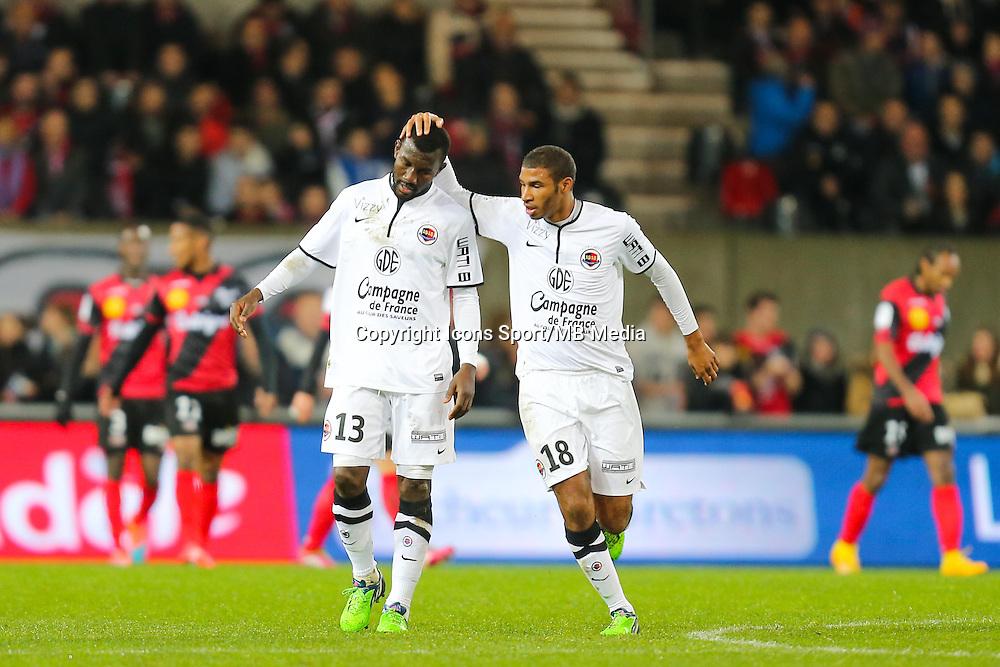 Jordan AEOTTI / Jean Jacques PIERRE  - 03.12.2014 - Guingamp / Caen - 16eme journee de Ligue 1 <br /> Photo : Vincent Michel / Icon Sport