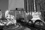 France. Paris 13th. Elevated subway at Austerlitz railway station