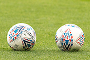 Betfred sponsored matchballs await the teams ahead of the Betfred Scottish League Cup semi-final match between Rangers and Heart of Midlothian at Hampden Park, Glasgow, United Kingdom on 3 November 2019.