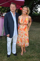 NICK JONES and KIRSTY YOUNG at the Serpentine Gallery Summer party sponsored by Yves Saint Laurent held at the Serpentine Gallery, Kensington Gardens, London W2 on 11th July 2006.<br />