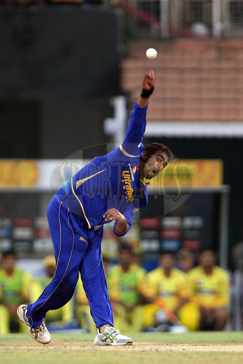 Amit Singh during match 26 of the the Indian Premier League ( IPL) 2012  between The Chennai Superkings and the Rajasthan Royals held at the M. A. Chidambaram Stadium, Chennai on the 21st April 2012..Photo by Jacques Rossouw/IPL/SPORTZPICS