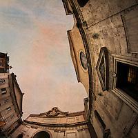 Rome, Porta del Popolo e Santa Maria del Popolo