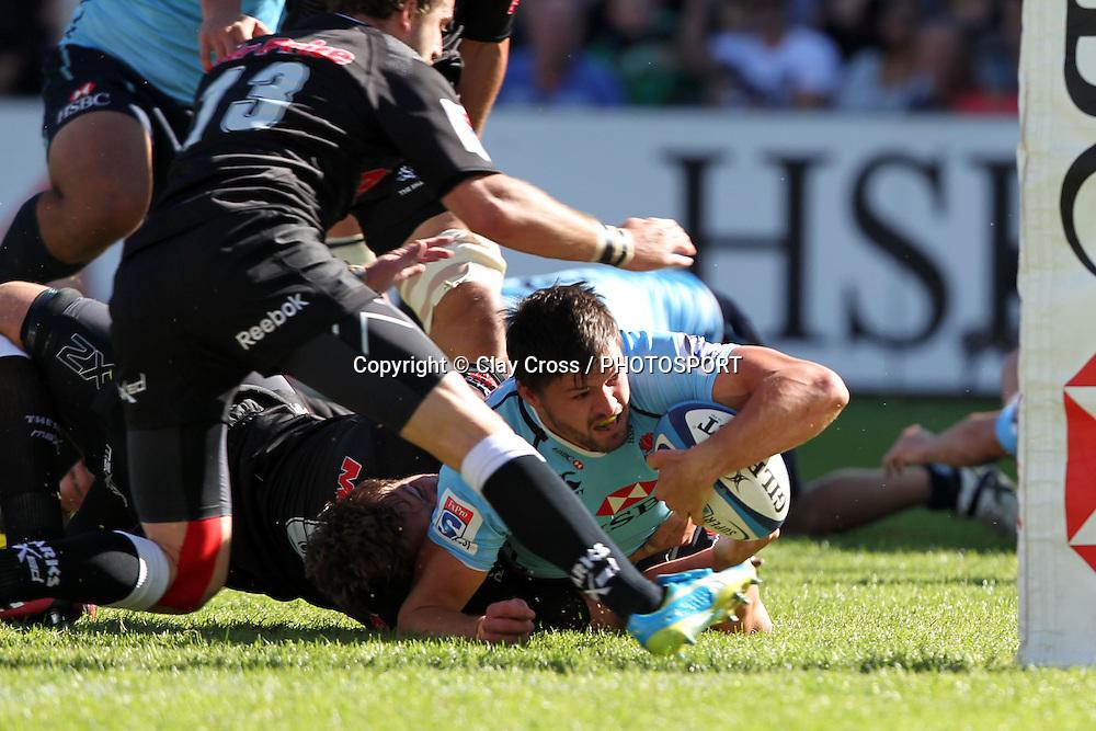 Adam Ashley-Cooper. Waratahs v Sharks. 2012 Super Rugby round 5 match. Allianz Stadium, Sydney Australia on Saturday 24 March 2012. Photo: Clay Cross / photosport.co.nz
