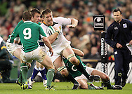 Photo © SPORTZPICS / SECONDS LEFT IMAGES 2010 /Colm O'Neill  - South Africa's Bakkies Botha (C) is held up by the Irish defence - Ireland v South Africa - Guinness Series 2010 - Aviva Stadium - Dublin - Ireland - 06/11/10 - All rights reserved
