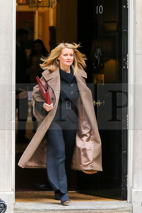 © Licensed to London News Pictures. 29/10/2019. London, UK. Minister of State for Housing ESTHER MCVEY departs from No 10 Downing Street after attending the weekly cabinet meeting. Photo credit: Dinendra Haria/LNP