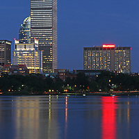 Boston skyline photography featuring the Prudential Tower, Sheraton Hoten and 111 Huntington Avenue on a magnificent summer night. The Boston skyscrapers and the popular hotel are located in the hip Back Bay neighborhood of Boston not far from Newbury Street. Boston skyline photos are available as museum quality photography prints, canvas prints, acrylic prints or metal prints. Fine art prints may be framed and matted to the individual liking and decorating needs:<br />  <br /> http://juergen-roth.pixels.com/featured/boston-prudential-tower-and-sheraton-hotel-boston-juergen-roth.html<br /> <br /> All Boston photographs are available for digital and print image licensing at www.RothGalleries.com. Please contact me direct with any questions or request.<br /> <br /> Good light and happy photo making!<br /> <br /> My best,<br /> <br /> Juergen<br /> Prints: http://www.rothgalleries.com<br /> Photo Blog: http://whereintheworldisjuergen.blogspot.com<br /> Instagram: https://www.instagram.com/rothgalleries<br /> Twitter: https://twitter.com/naturefineart<br /> Facebook: https://www.facebook.com/naturefineart