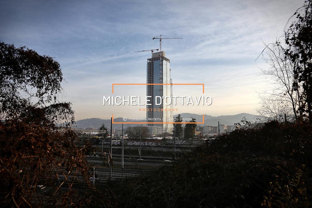 Torre Regione Piemonte, Cantiere della futura sede della Regione Piemonte nel quartiere Lingotto. Torino 29 gennaio 2015