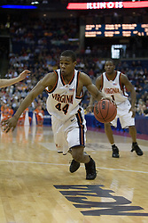 Virginia Cavaliers point guard Sean Singletary (44) in action against Albany.  The #4 seed Virginia Cavaliers defeated the #13 seed Albany Great Danes 84-57 in the first round of the South Region Men's NCAA Tournament in Columbus, OH on March 16, 2007.