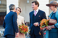 04.10.2016. Copenhagen, Denmark.  <br /> Crown Prince Frederik, Princess Marie, Prince Joachim, Princess Benedikte attended the opening session of the Danish Parliament (Folketinget) at Christiansborg Palace in Copenhagen, Denmark.<br /> Photo: &copy; Ricardo Ramirez