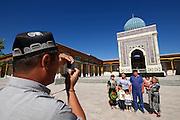 Uzbekistan, Samarqand Province. Hoja Ismail.<br /> Mausoleum of Ismail-al-Bukhari