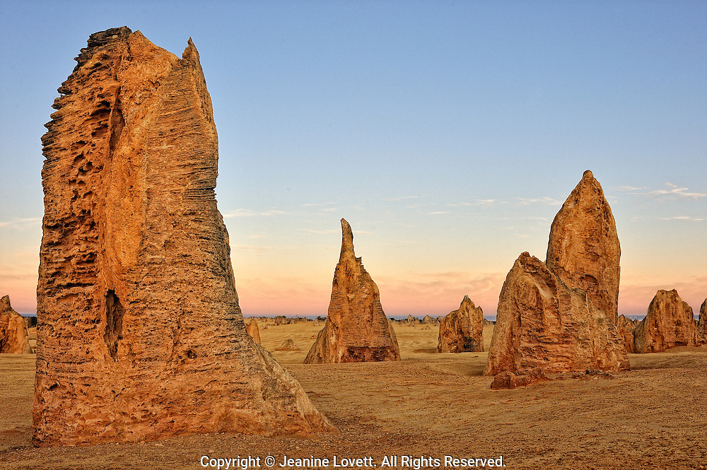 The Pinnacles are limestone formations contained within Nambung National Park, near the town of Cervantes, Western Australia.