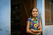 This little girl just stood at the entrance to her house, one of the many houses painted blue in Bundi.