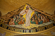 Mosaic depicts the resurrected Jesus inside the Basilica of the National Shrine of the Immaculate Conception in Washington, D.C. (Sam Lucero photo)