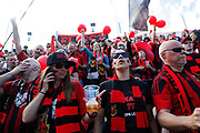 SUNDSVALL, SWEDEN - MAY 19: Fans of Ostersunds FK during the Allsvenskan match between GIF Sundsvall and Ostersunds FK at Idrottsparken on May 19, 2018 in Sundsvall, Sweden. Photo: Nils Petter Nilsson/Ombrello ***BETALBILD***