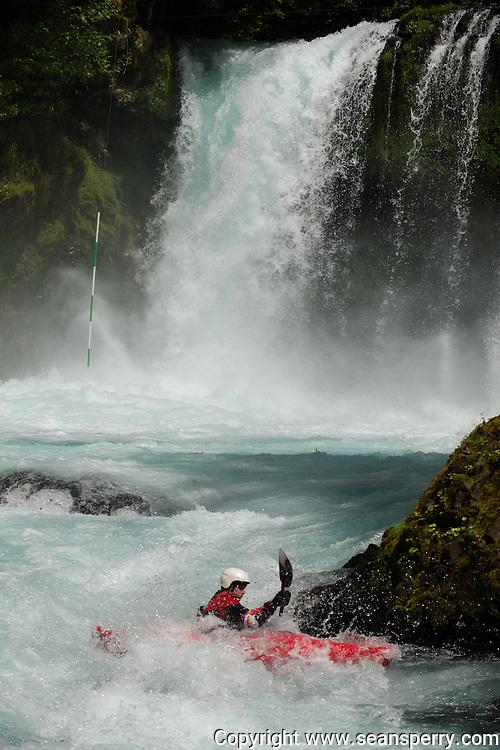 Little White Salmon Race paddling bellow Spirit Falls on the Little White Salmon River.