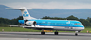 KLM at Manchester Airport, Manchester, United Kingdom on 14 March 2020.