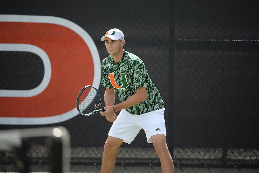 2016 Miami Hurricanes Men's Tennis vs Troy