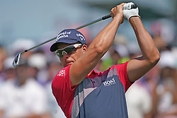 June 16, 2018 - Southampton, NY, USA - Henrick Stenson hits from the 1st tee during the third round of the 2018 U.S. Open at Shinnecock Hills Country Club in Southampton, N.Y., on Saturday, June 16, 2018. (Credit Image: © Brian Ciancio/TNS via ZUMA Wire)