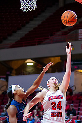 NORMAL, IL - November 30: Megan Talbot during a college women's basketball game between the ISU Redbirds and the Skyhawks of UT-Martin November 30 2019 at Redbird Arena in Normal, IL. (Photo by Alan Look)