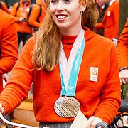 NLD/Den Haag/20180323 - Huldiging Olympische en Paralympische medaillewinnaars, Antoinette de Jong