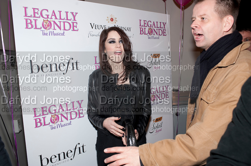 LUCIE JONES; X FACTOR, Savoy Theatre's Legally Blonde- The Musical,  Gala night. After-party at the Waldorf Hilton. London. 13 January 2010. *** Local Caption *** -DO NOT ARCHIVE-© Copyright Photograph by Dafydd Jones. 248 Clapham Rd. London SW9 0PZ. Tel 0207 820 0771. www.dafjones.com.<br /> LUCIE JONES; X FACTOR, Savoy Theatre's Legally Blonde- The Musical,  Gala night. After-party at the Waldorf Hilton. London. 13 January 2010.