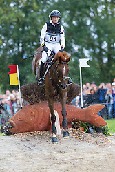 Sandra Auffarth, (GER), Opgun Louvo - Eventing Cross Country test - Alltech FEI World Equestrian Games™ 2014 - Normandy, France.<br /> © Hippo Foto Team - Leanjo de Koster<br /> 30/08/14