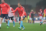 Coventry City midfielder Joe Cole warming up ahead of the Sky Bet League 1 match between Swindon Town and Coventry City at the County Ground, Swindon, England on 24 October 2015. Photo by Jemma Phillips.