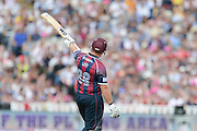Richard Levi during the NatWest T20 Blast semi final match between Northamptonshire County Cricket Club and Warwickshire County Cricket Club at Edgbaston, Birmingham, United Kingdom on 29 August 2015. Photo by David Vokes.