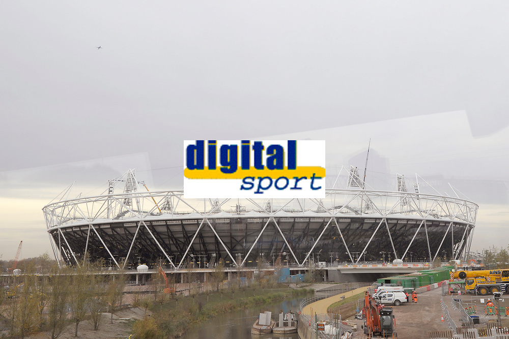 OLYMPIC GAMES - LONDON 2012 VENUES - LONDON (GBR) - 23/11/2011 - PHOTO : GREGORY LENORMAND / DPPI - OLYMPIC STADIUM