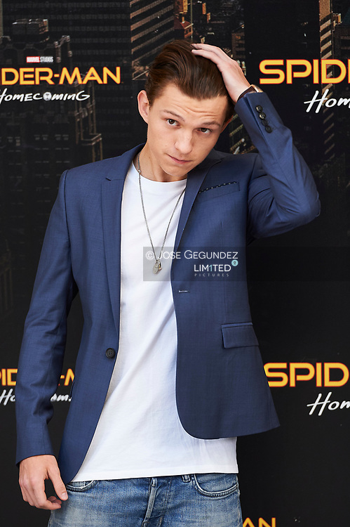 Tom Holland attends a photocall for 'Spider-Man: Homecoming' at the Villa Magna Hotel on June 14, 2017 in Madrid, Spain.
