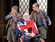 Forty Years On <br /> by Alan Bennett <br /> at Festival Theatre Chichester , Great Britain <br /> press photocall <br /> 25th April 2017 <br /> <br /> Richard Wilson as Headmaster <br /> <br /> <br /> <br /> <br /> Cameron House as pupil <br /> Alex Phillips as pupil <br /> <br /> <br /> <br /> Photograph by Elliott Franks <br /> Image licensed to Elliott Franks Photography Services