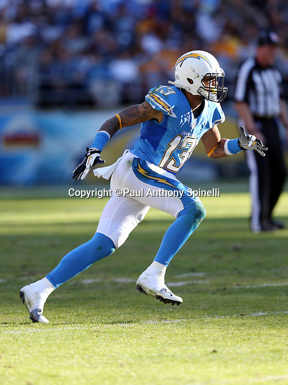 San Diego Chargers wide receiver Keenan Allen (13) goes out for a pass during the NFL week 13 football game against the Cincinnati Bengals on Sunday, Dec. 1, 2013 in San Diego. The Bengals won the game 17-10. ©Paul Anthony Spinelli